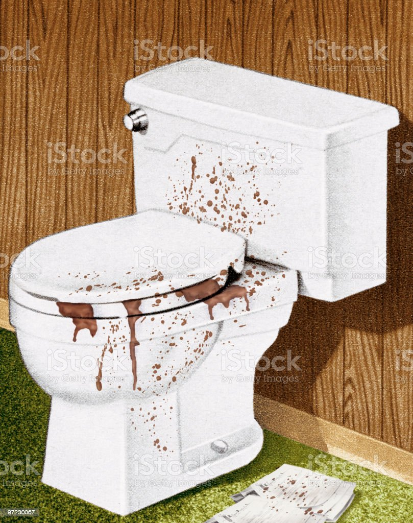 Dirty toilet royalty-free stock vector art