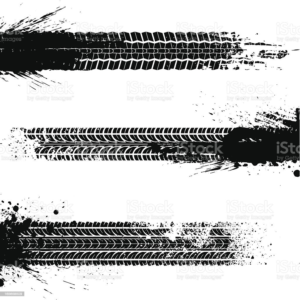 Dirty tracks vector art illustration
