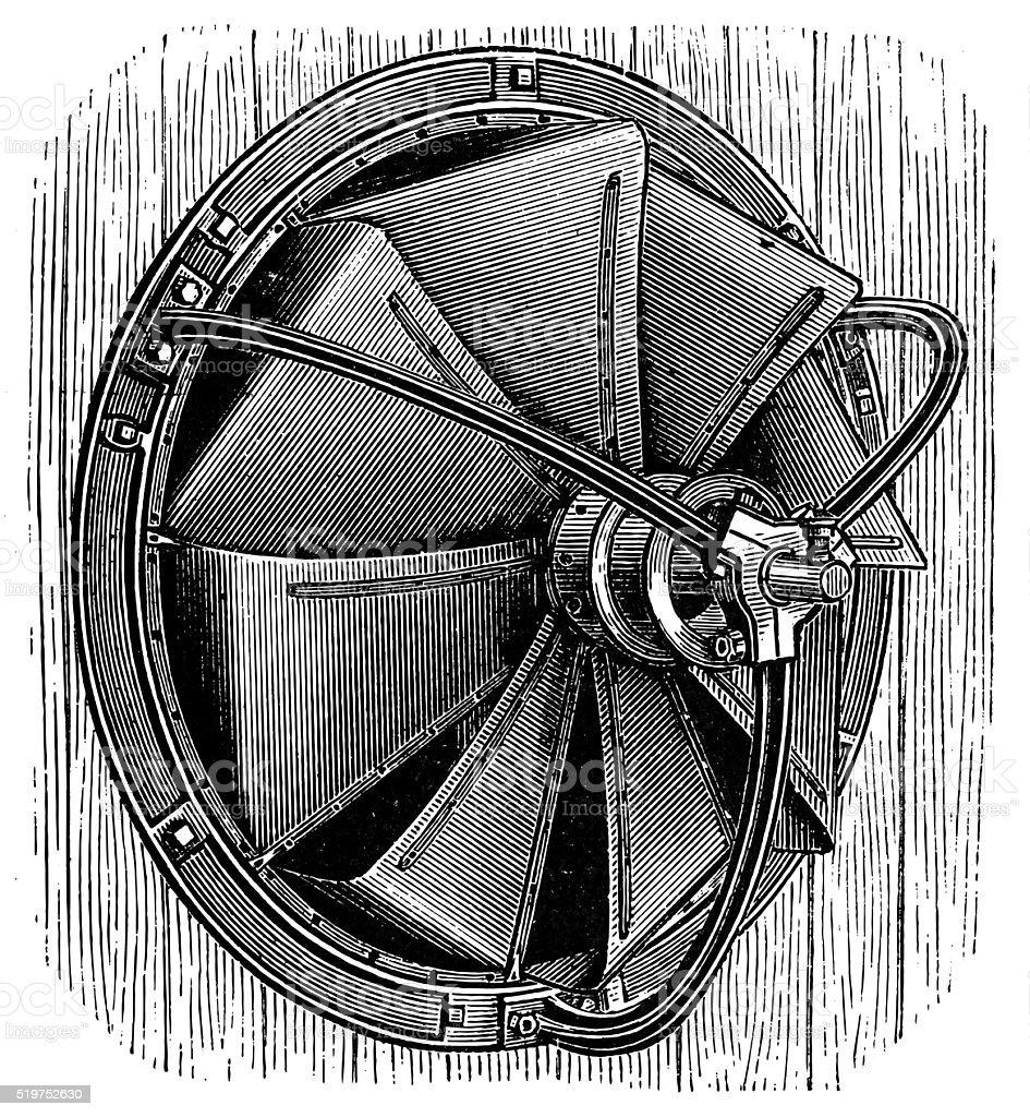 Disc fan of Blackman vector art illustration
