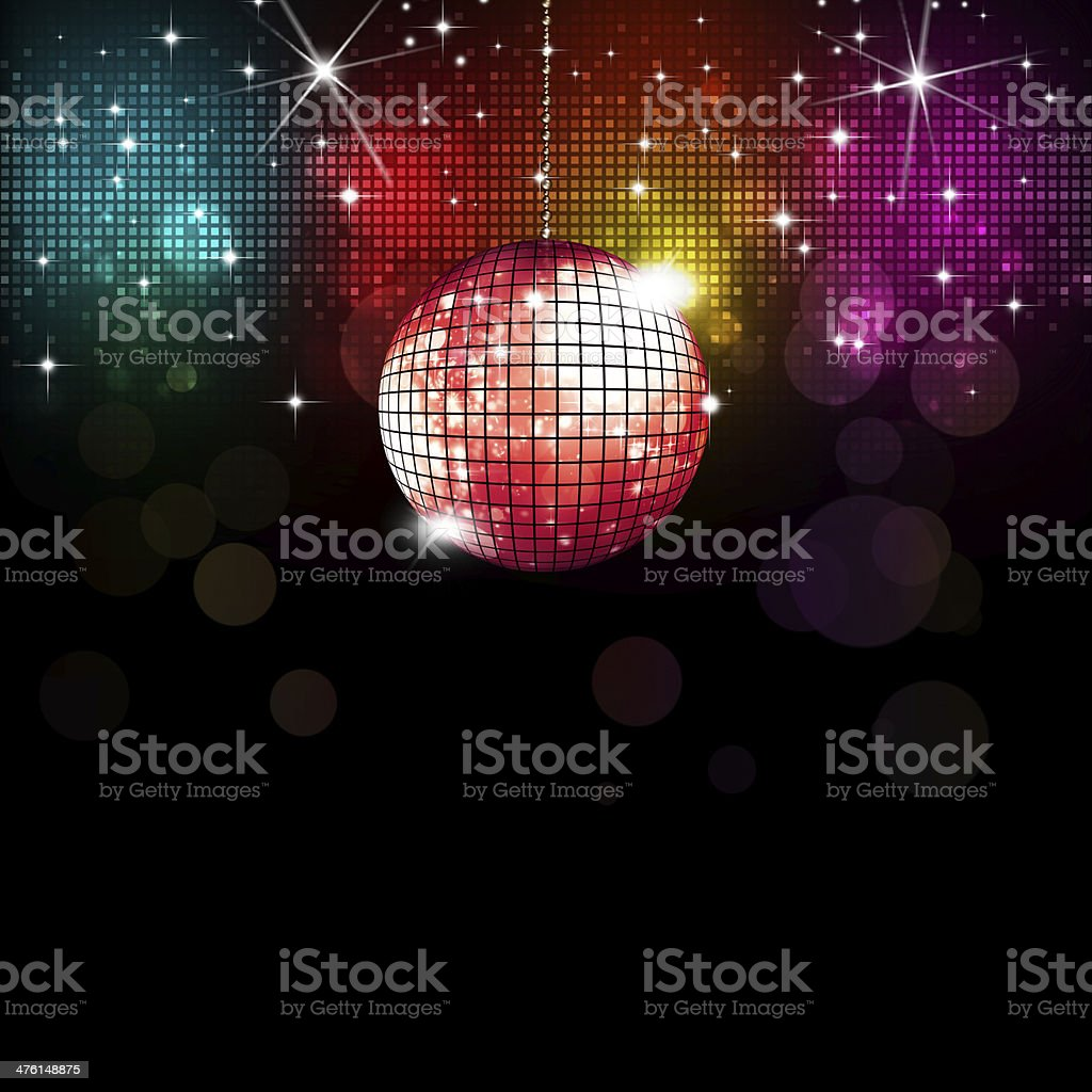 Disco Background vector art illustration