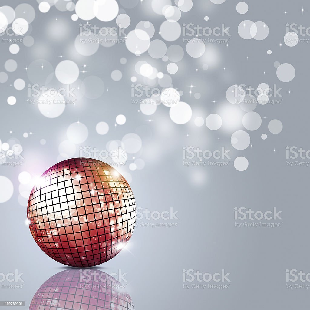 A disco ball in light on grey background royalty-free stock vector art