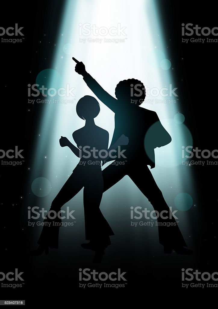 Disco Dancing vector art illustration
