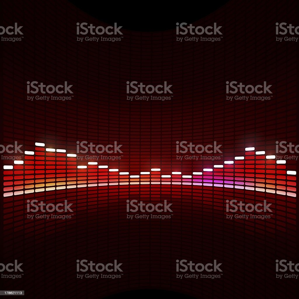 Disco Equalizer royalty-free stock vector art