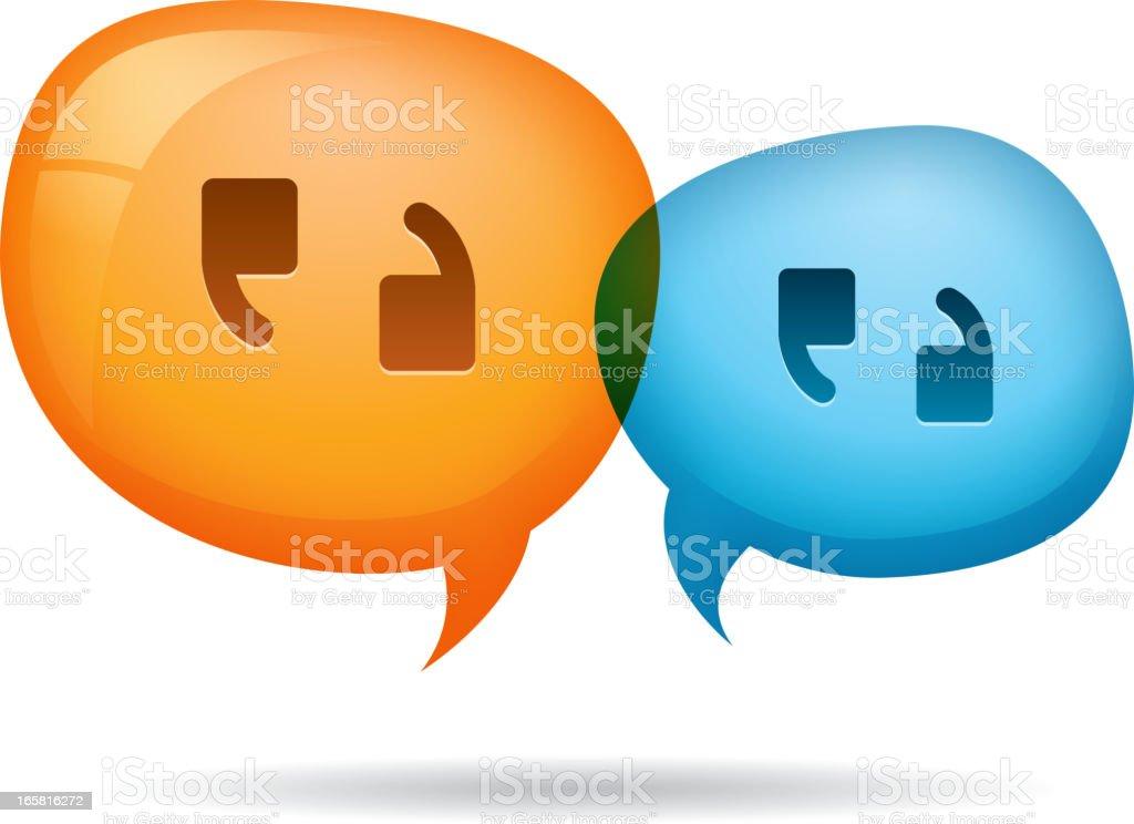 Discussion icon vector art illustration