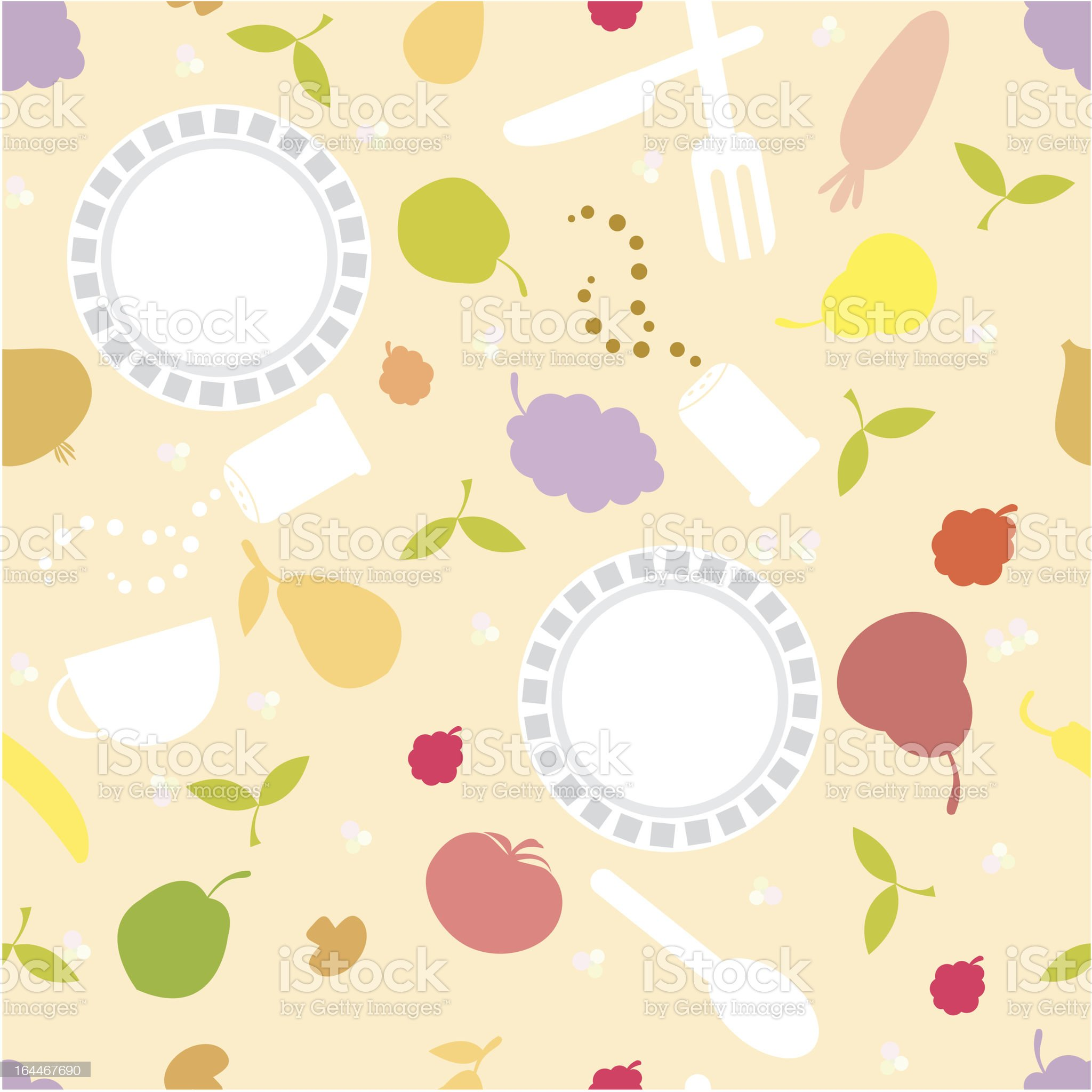 dish and food seamless background royalty-free stock vector art