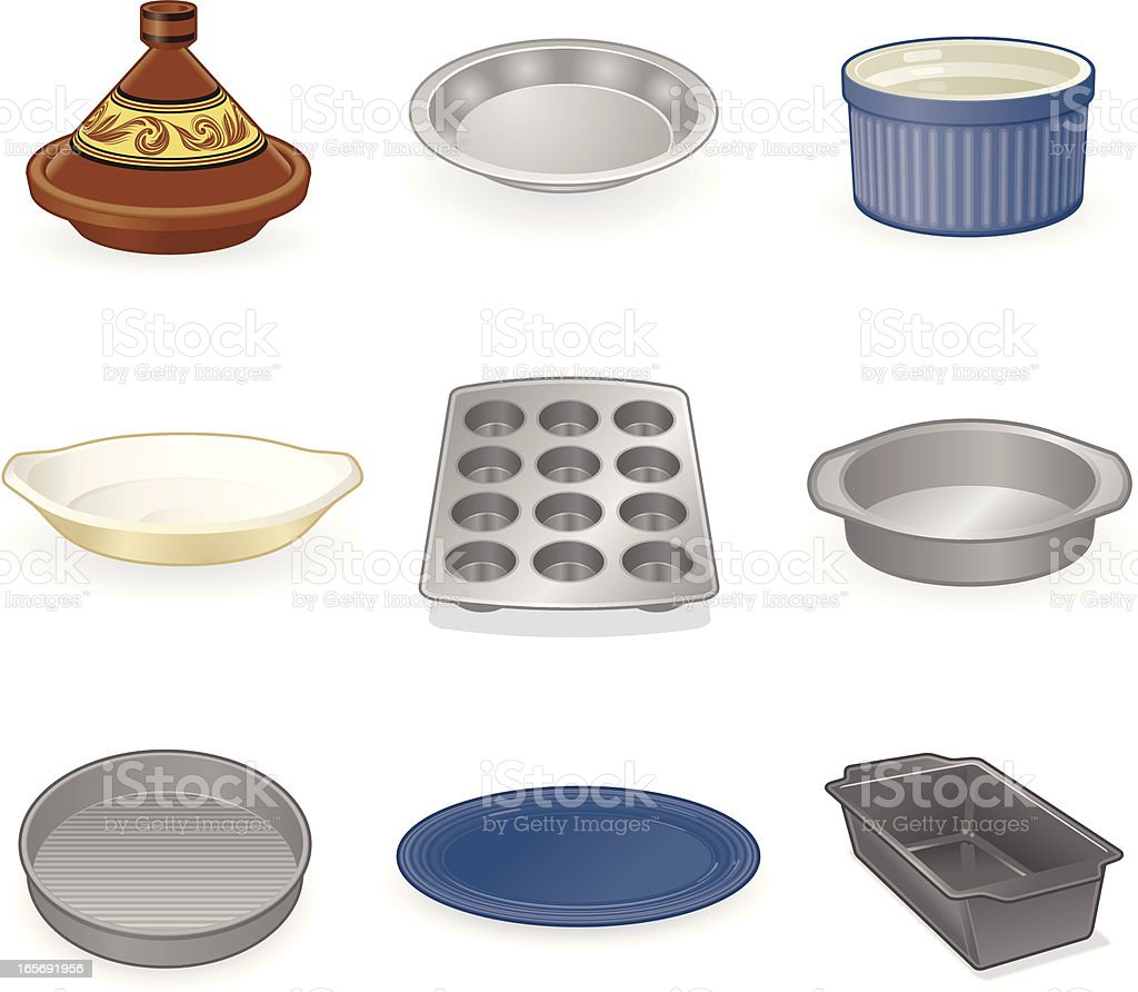 Dishes and Pans vector art illustration
