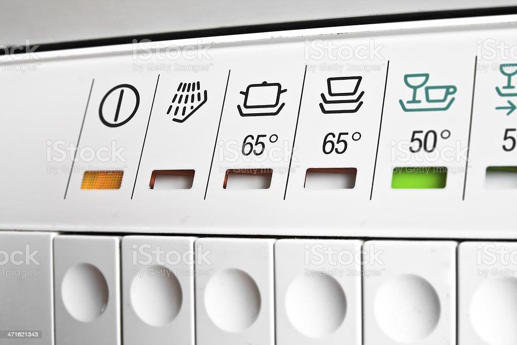 Dishwasher panel vector art illustration