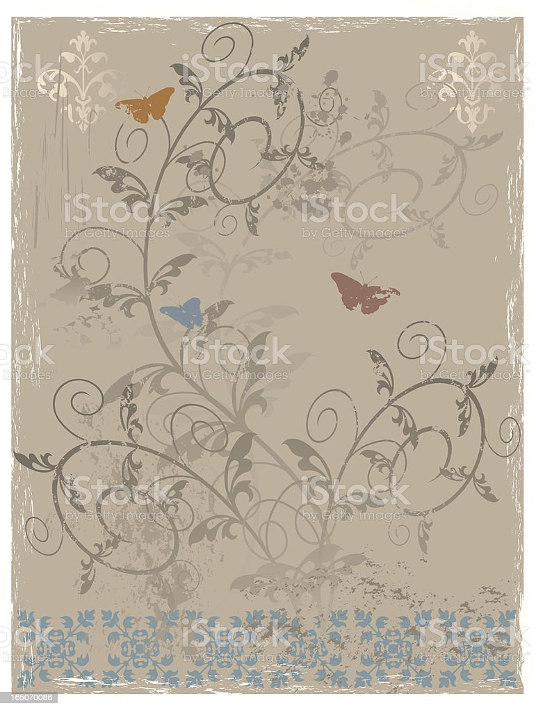 Distressed background three royalty-free stock vector art