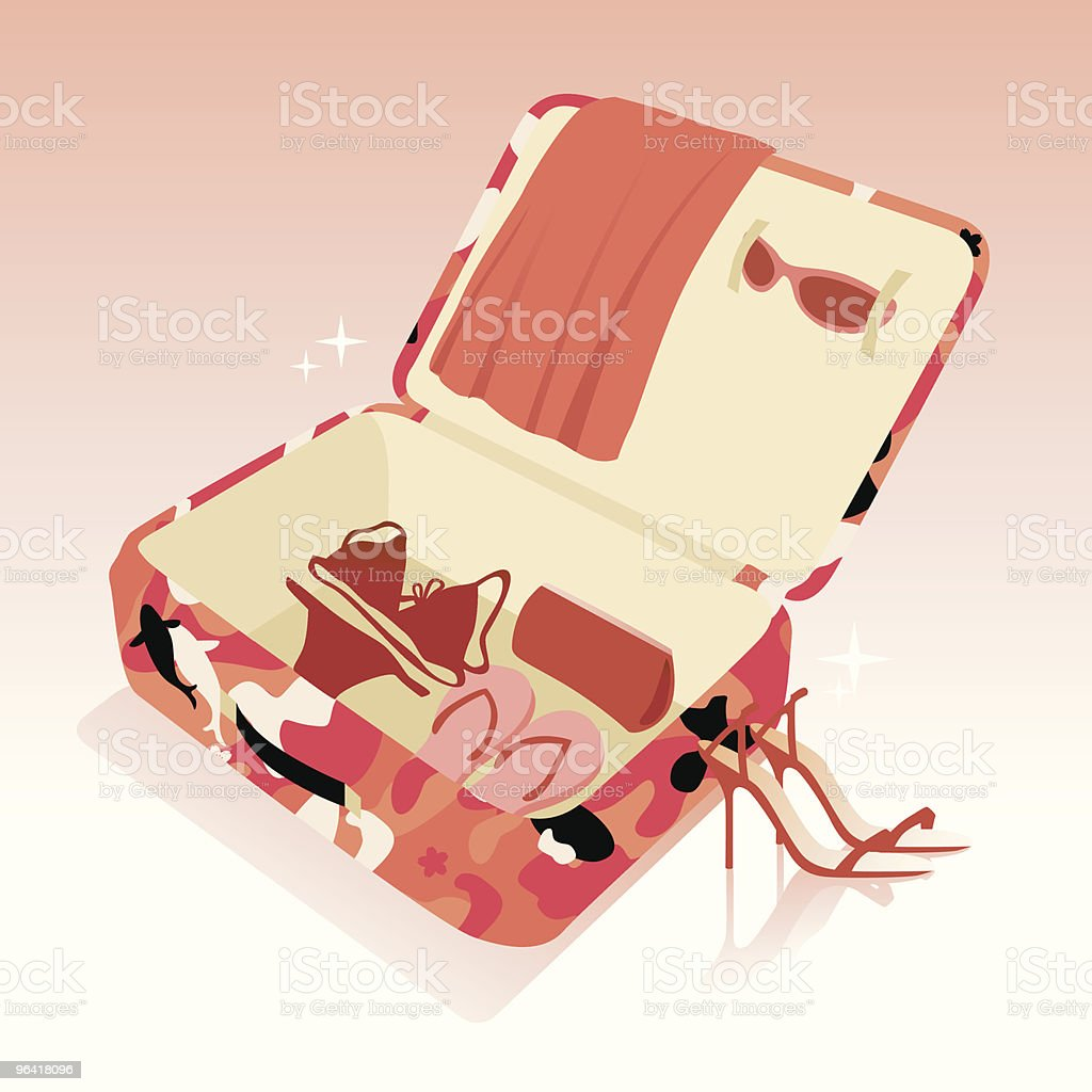 Diva travel kit vector art illustration