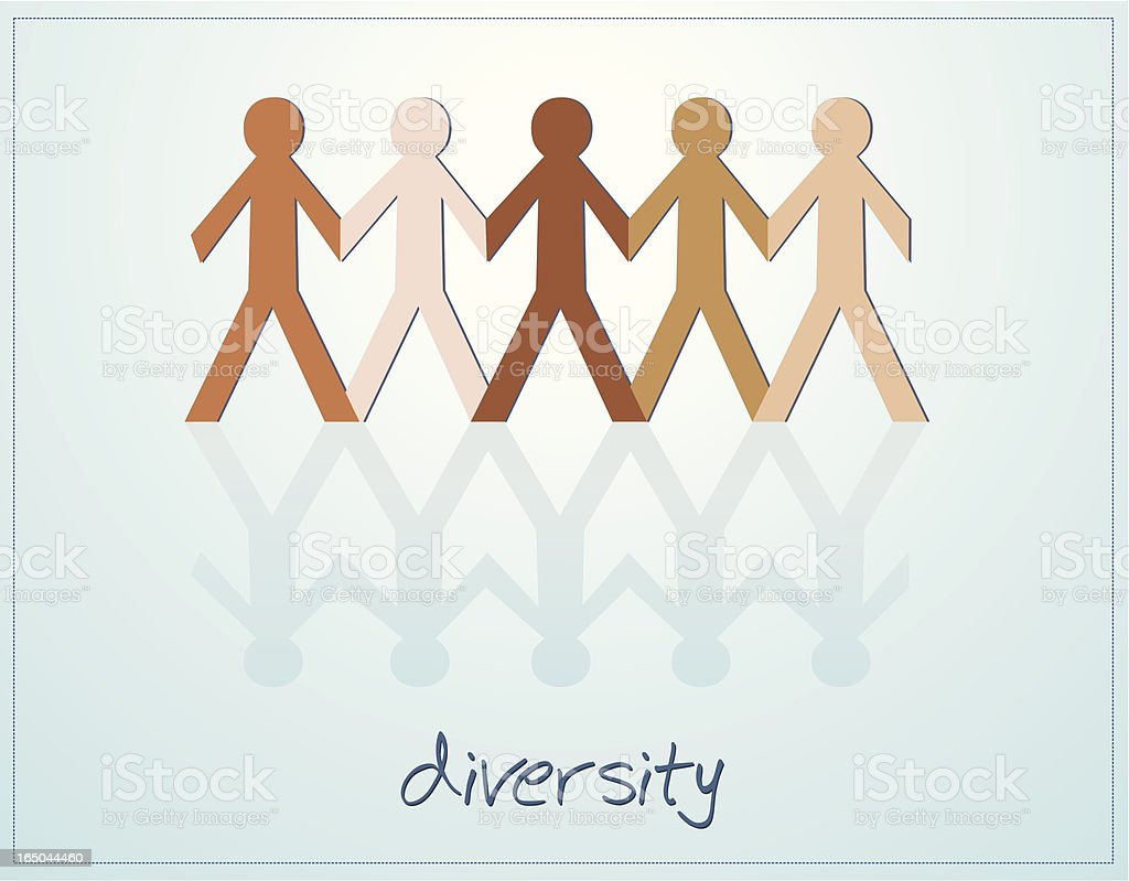 Diversity - All Male royalty-free stock vector art