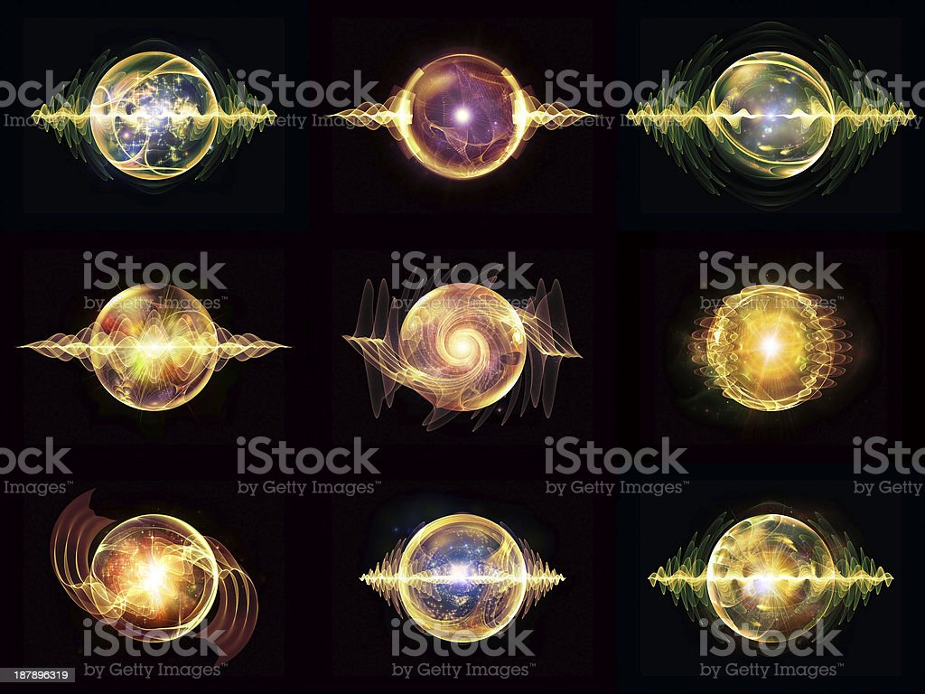Diversity of Wave Particle royalty-free stock vector art
