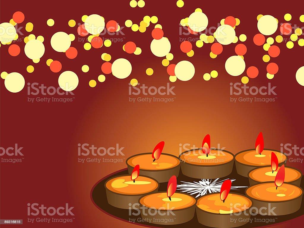 Diwali Festival of Lights royalty-free stock vector art