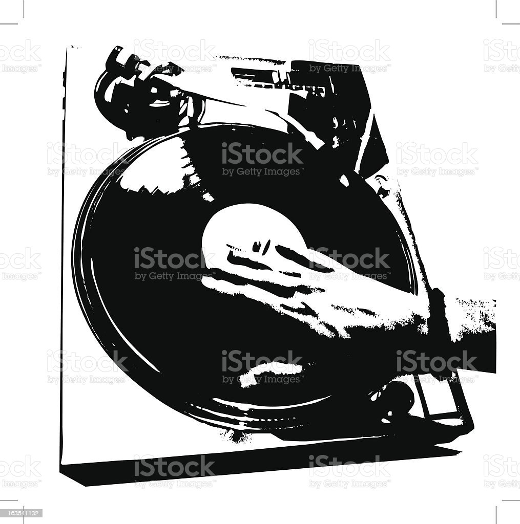 Dj Mixing it up! royalty-free stock vector art