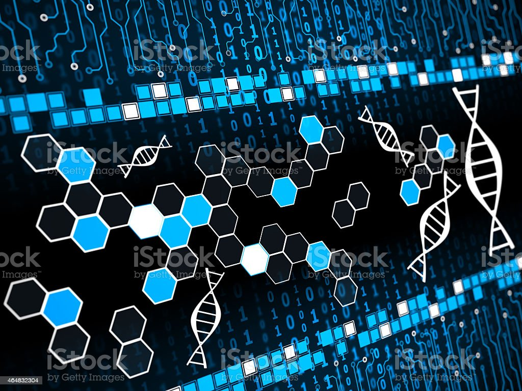 Dna structure vector art illustration