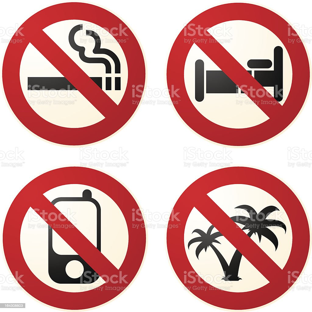 Do not signs royalty-free stock vector art