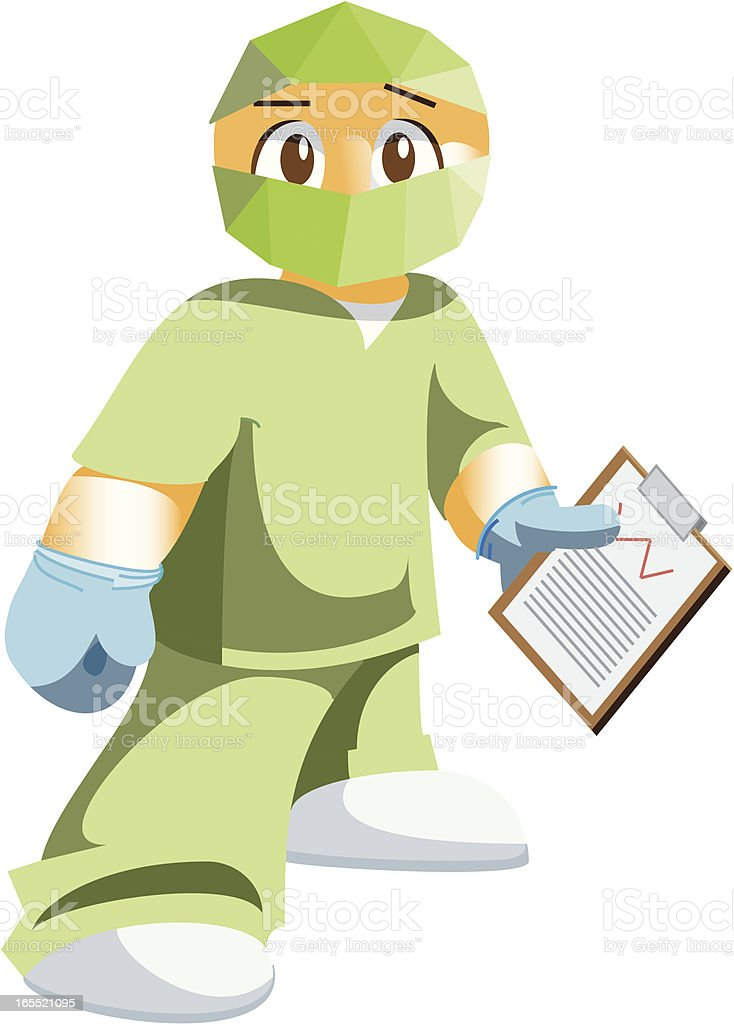 Doctor preparing for Surgery vector art illustration