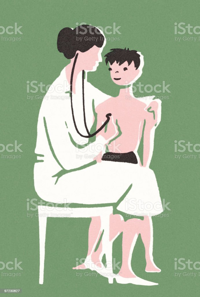 Doctor Visit royalty-free stock vector art