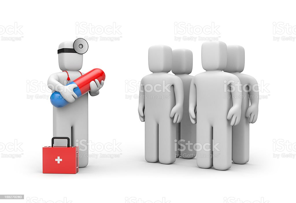 Doctor with pill royalty-free stock vector art