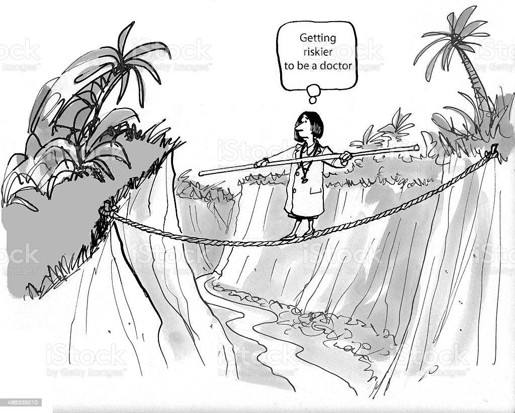 Doctor's Many Risks vector art illustration