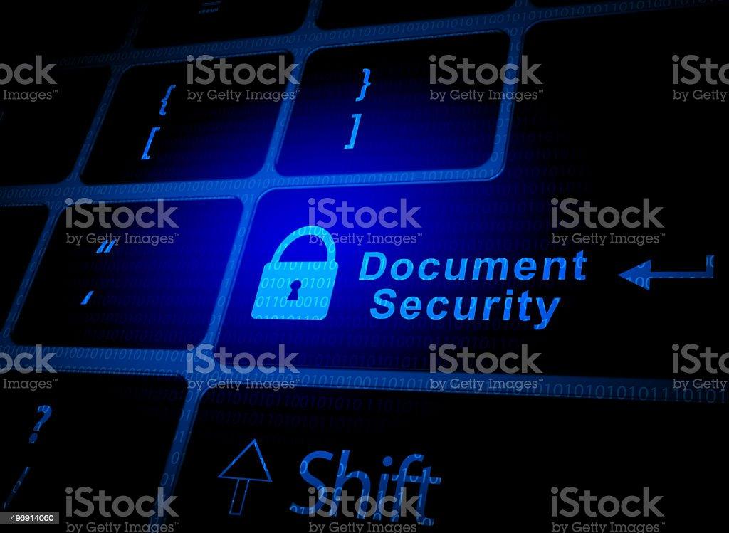 Document security key vector art illustration
