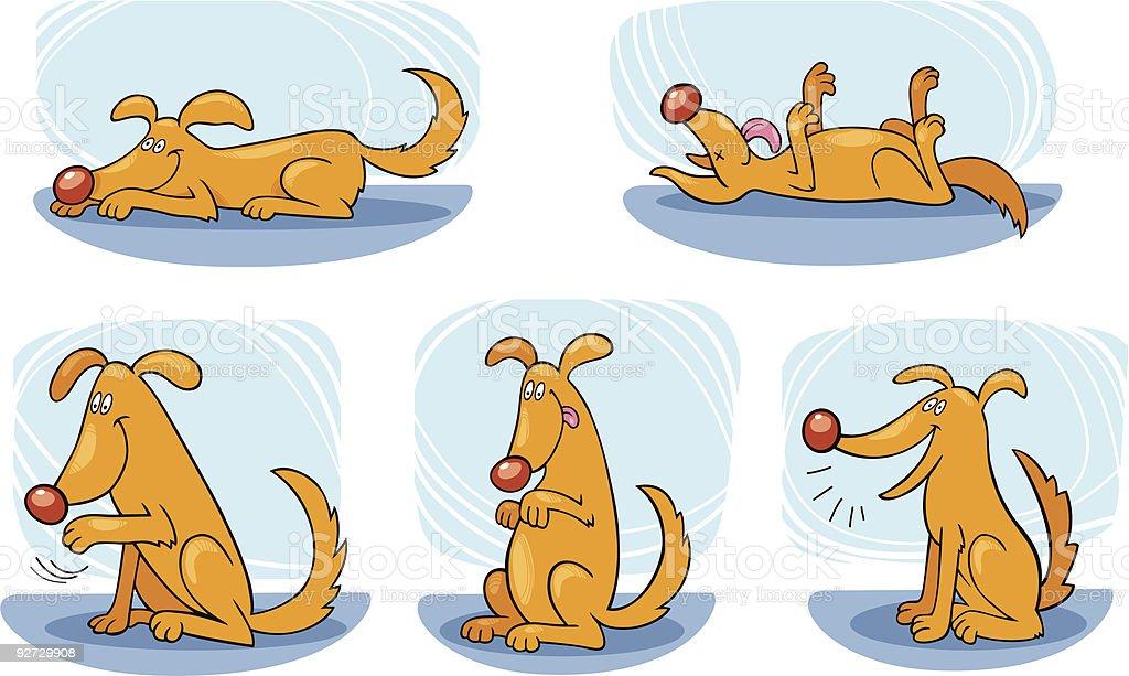 Dog doing tricks royalty-free stock vector art