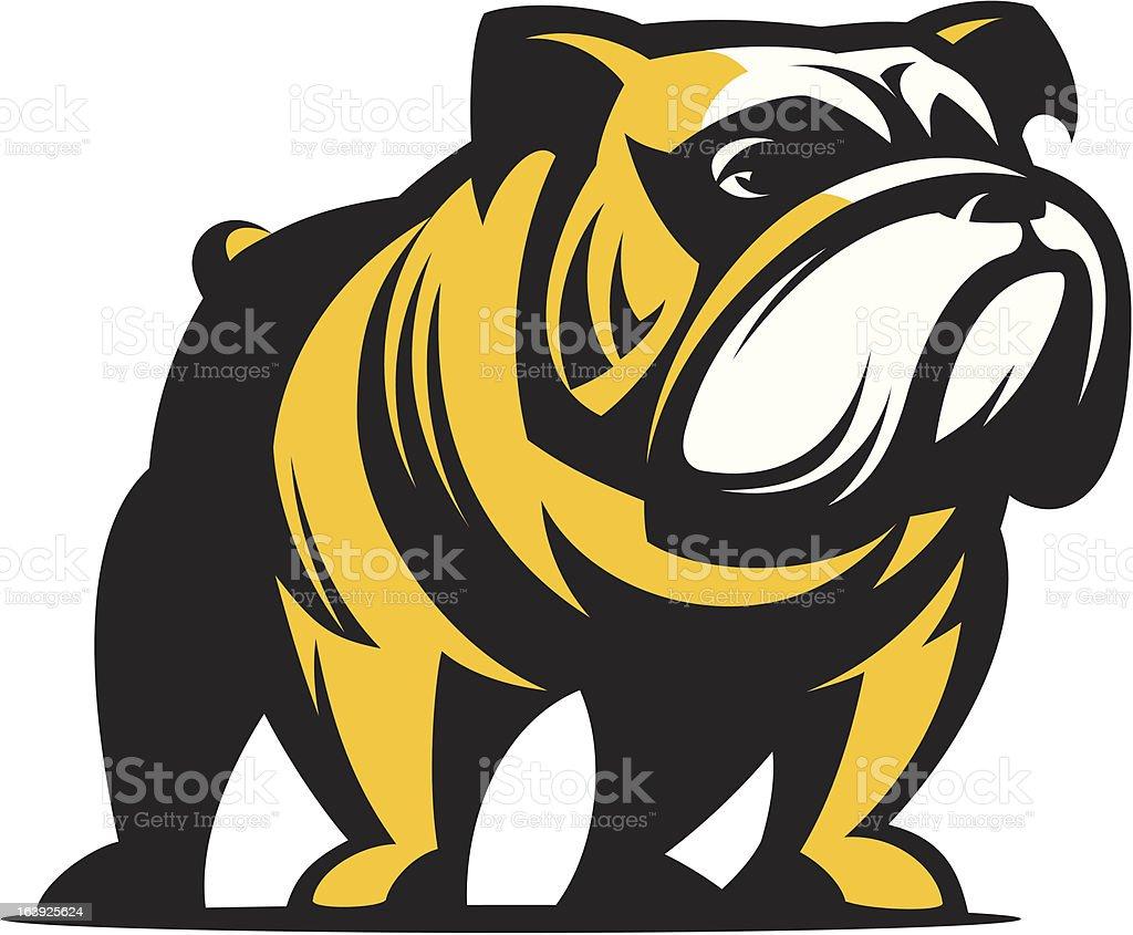 Dog English Bulldog royalty-free stock vector art