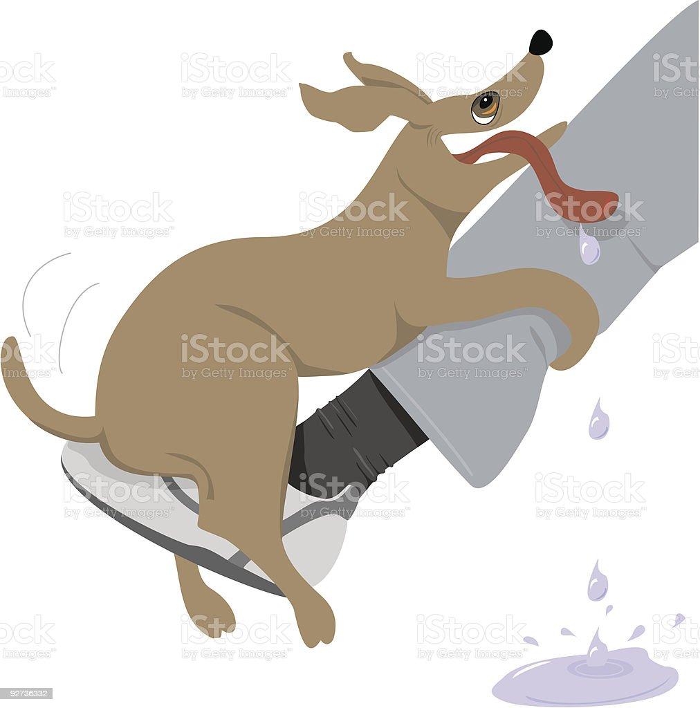 Dog Humping Leg - Behavior Problem vector art illustration