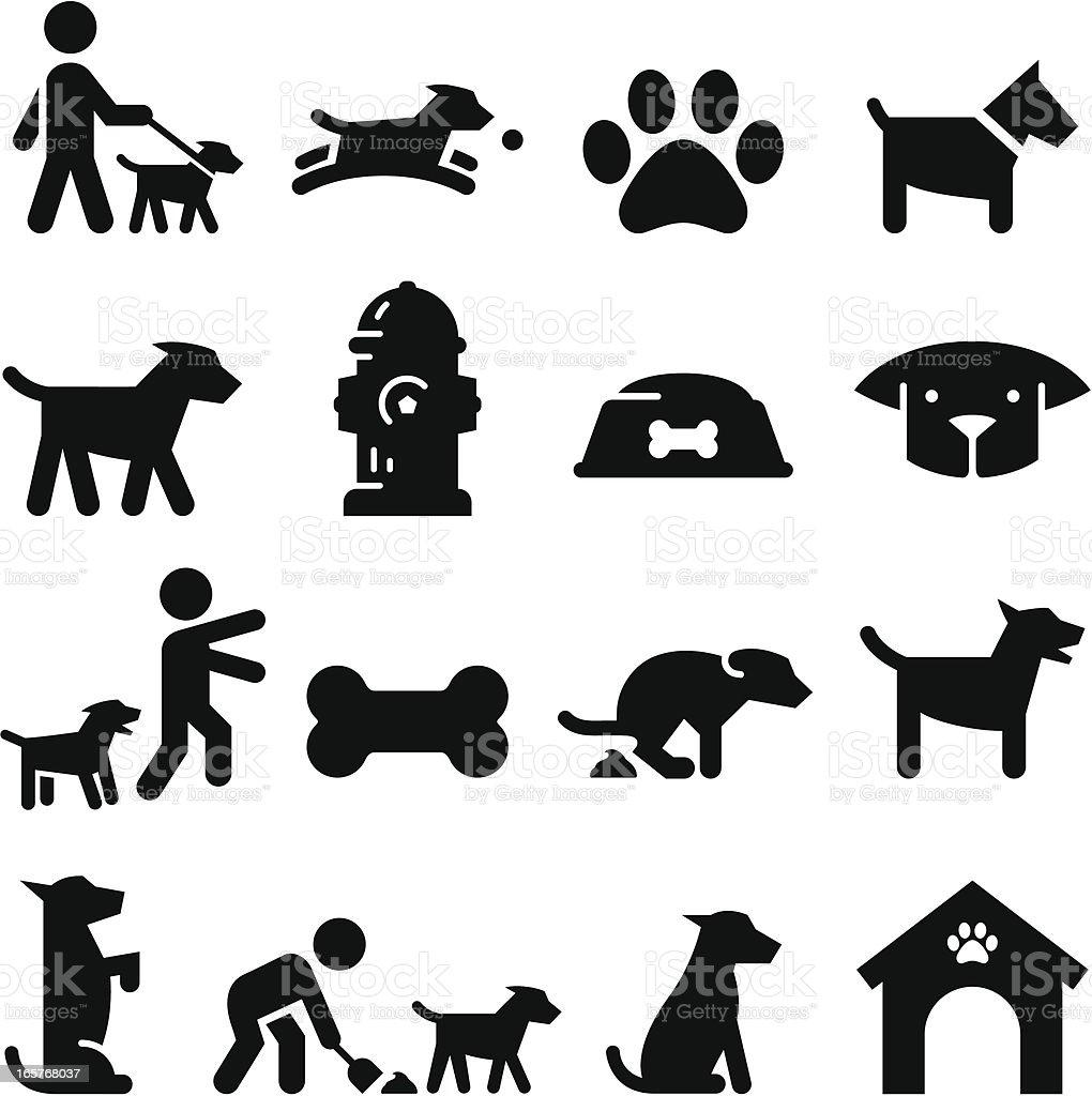 Dog Icons - Black Series royalty-free stock vector art