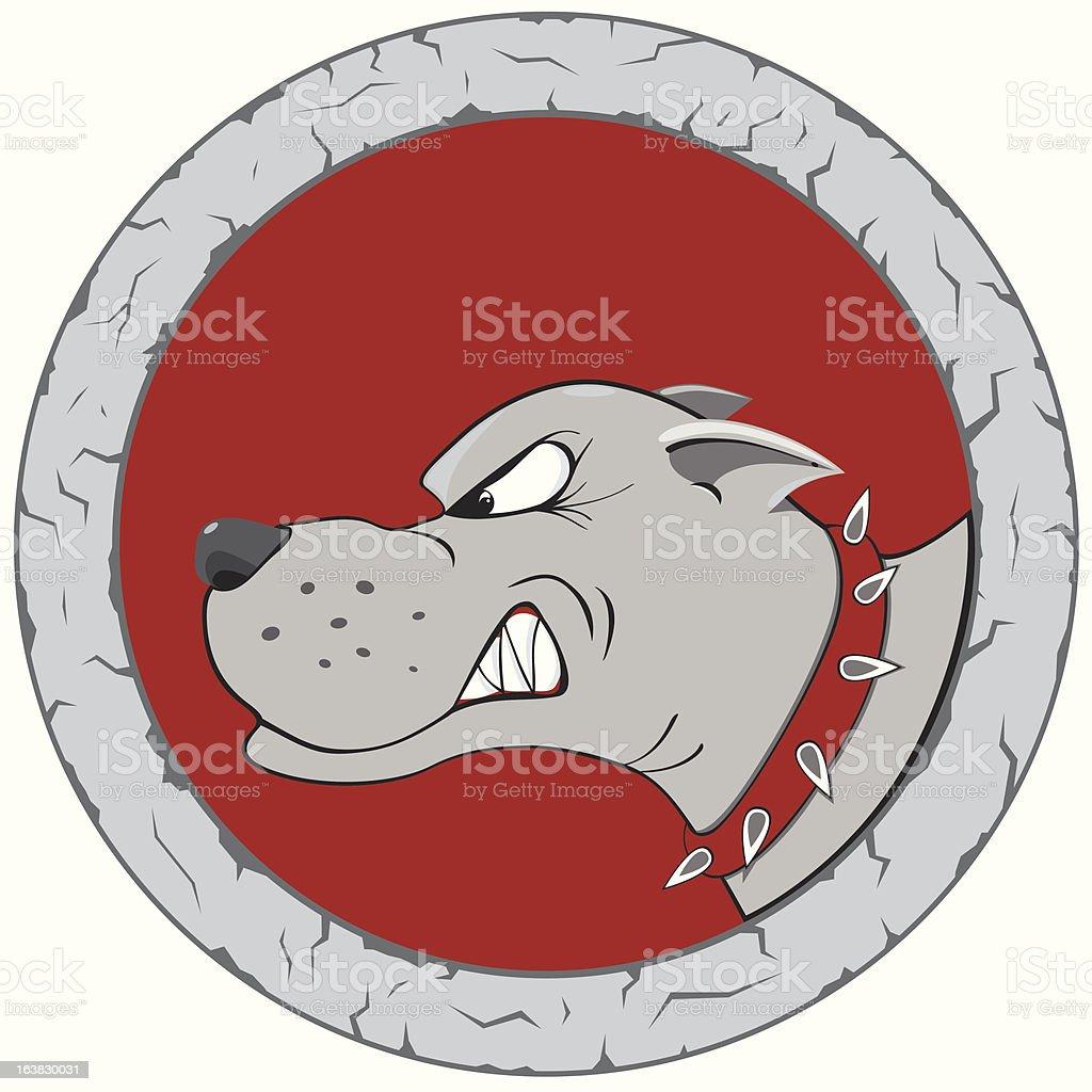 dog logo vector art illustration