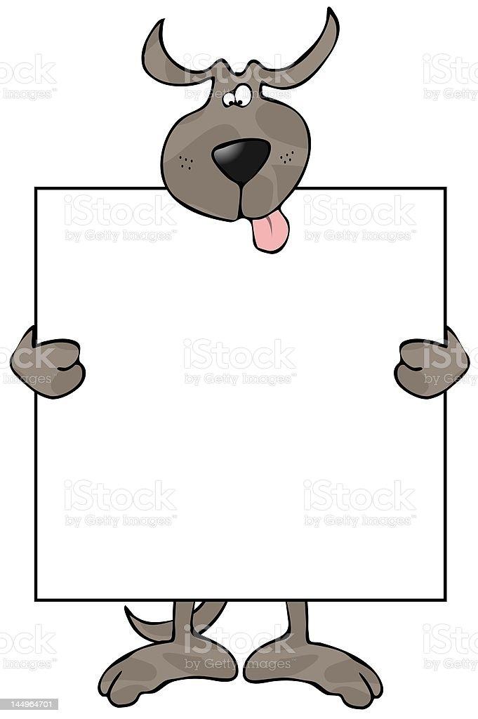 Dog Sign royalty-free stock vector art