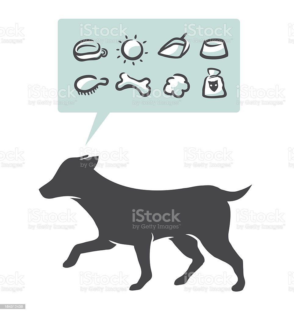 dog supplies icons set royalty-free stock vector art