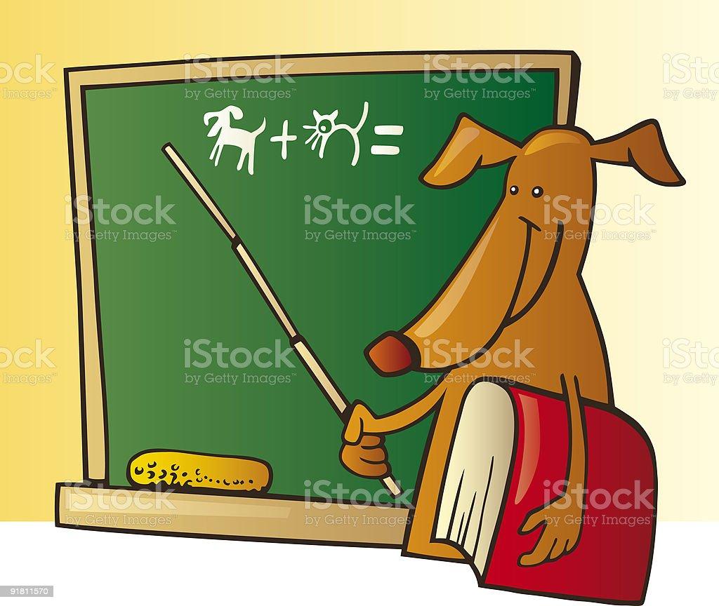 dog teacher royalty-free stock vector art