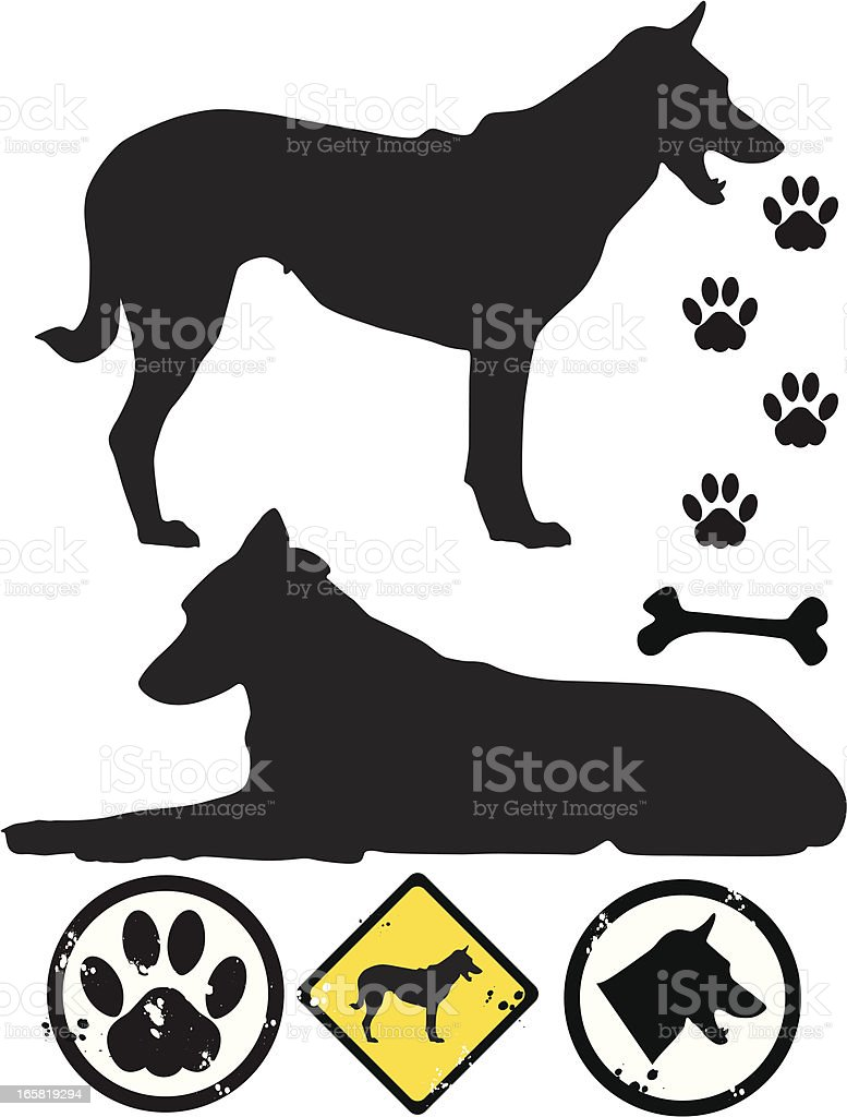 dog tracks royalty-free stock vector art