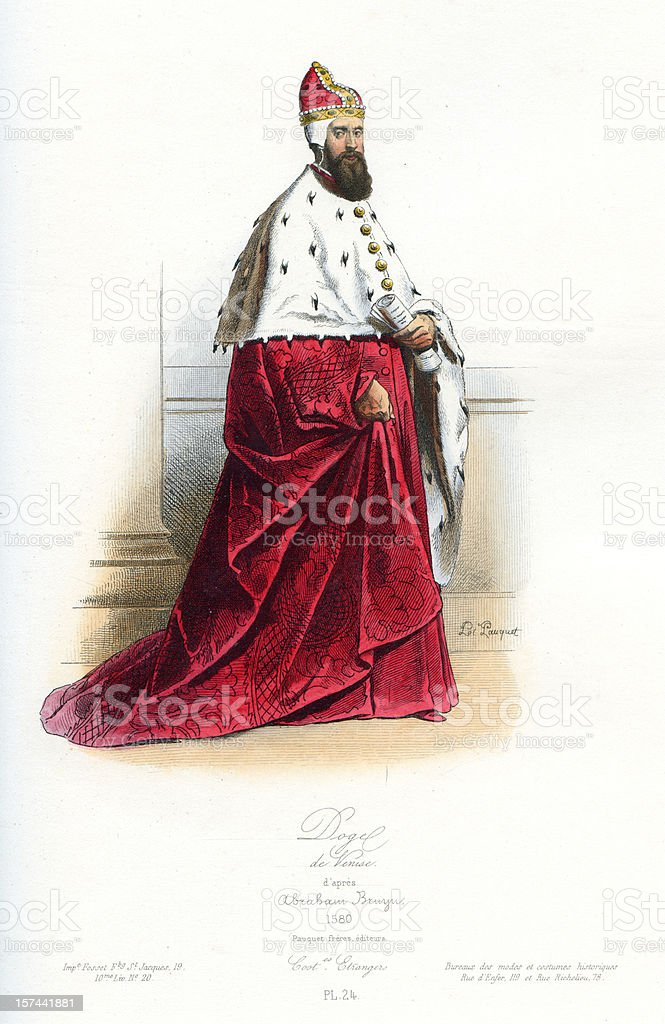 Doge of Venice royalty-free stock vector art