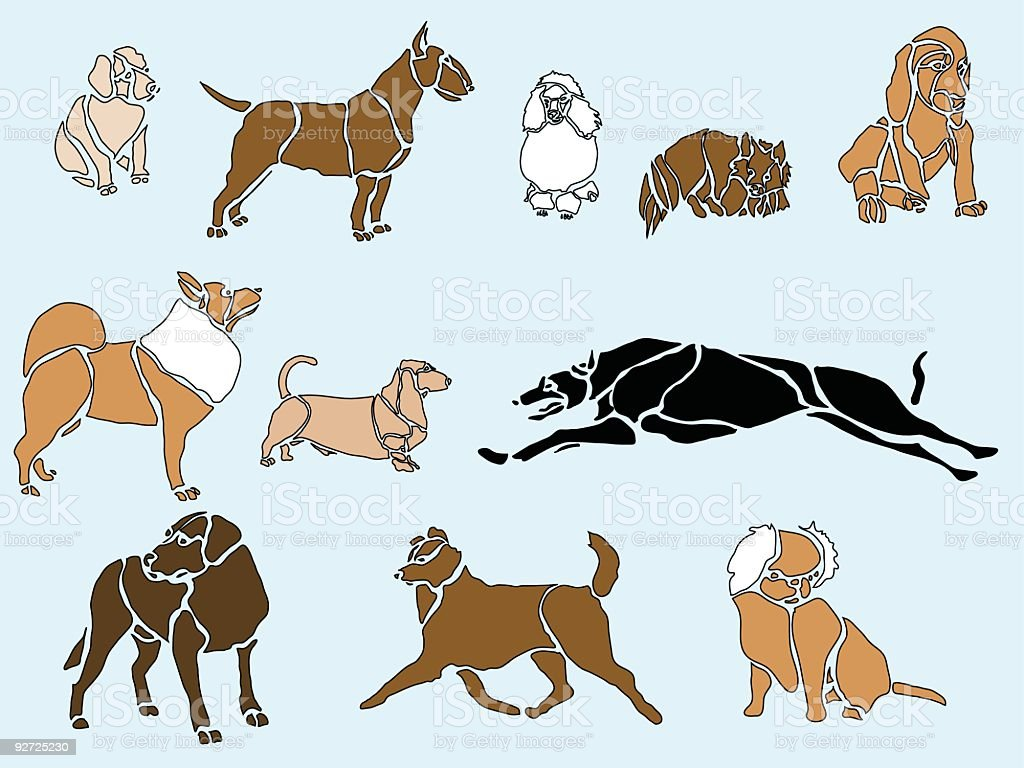 Doggies... vector art illustration