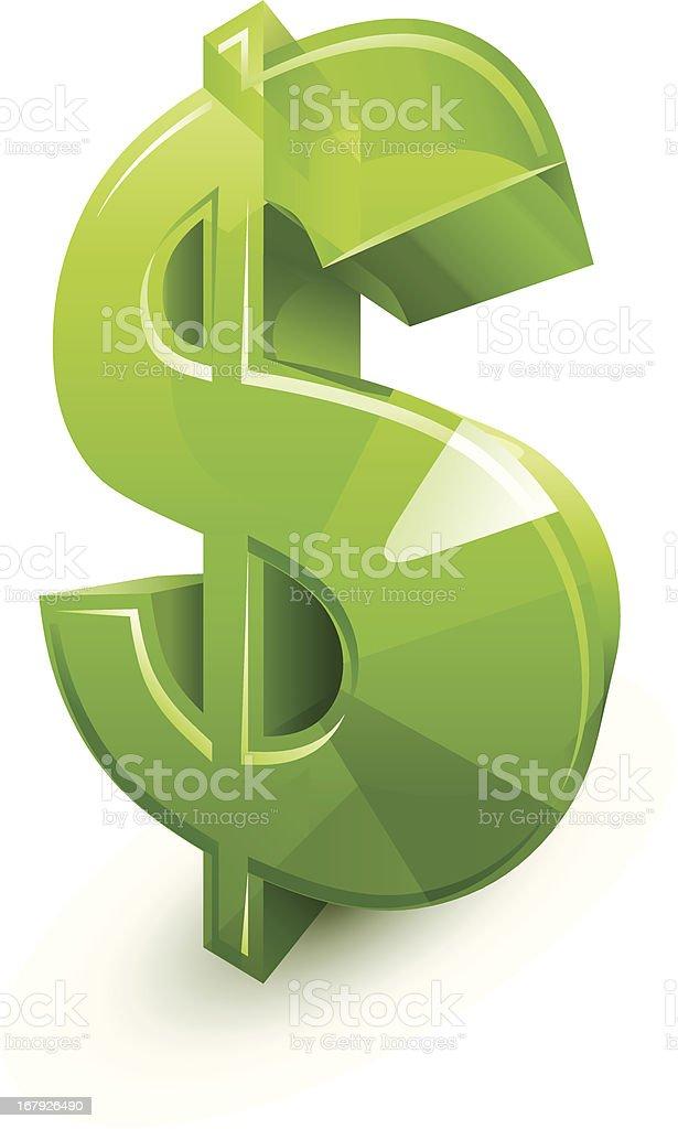 Dollar sign vector art illustration