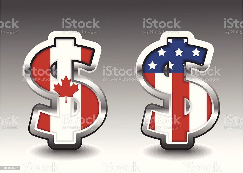 Dollars vector art illustration