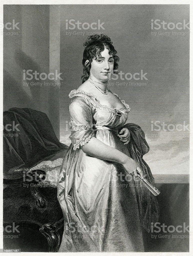 Dolley Madison vector art illustration