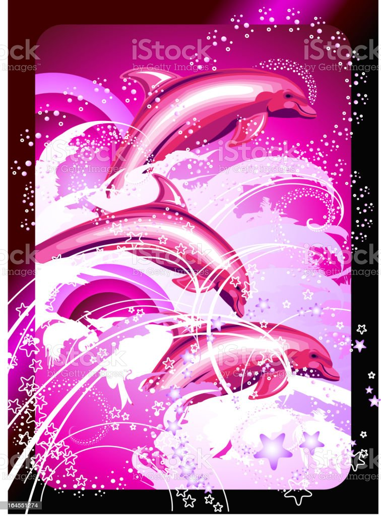 Dolphins royalty-free stock vector art