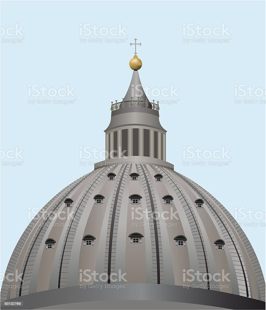 dome rome royalty-free stock vector art