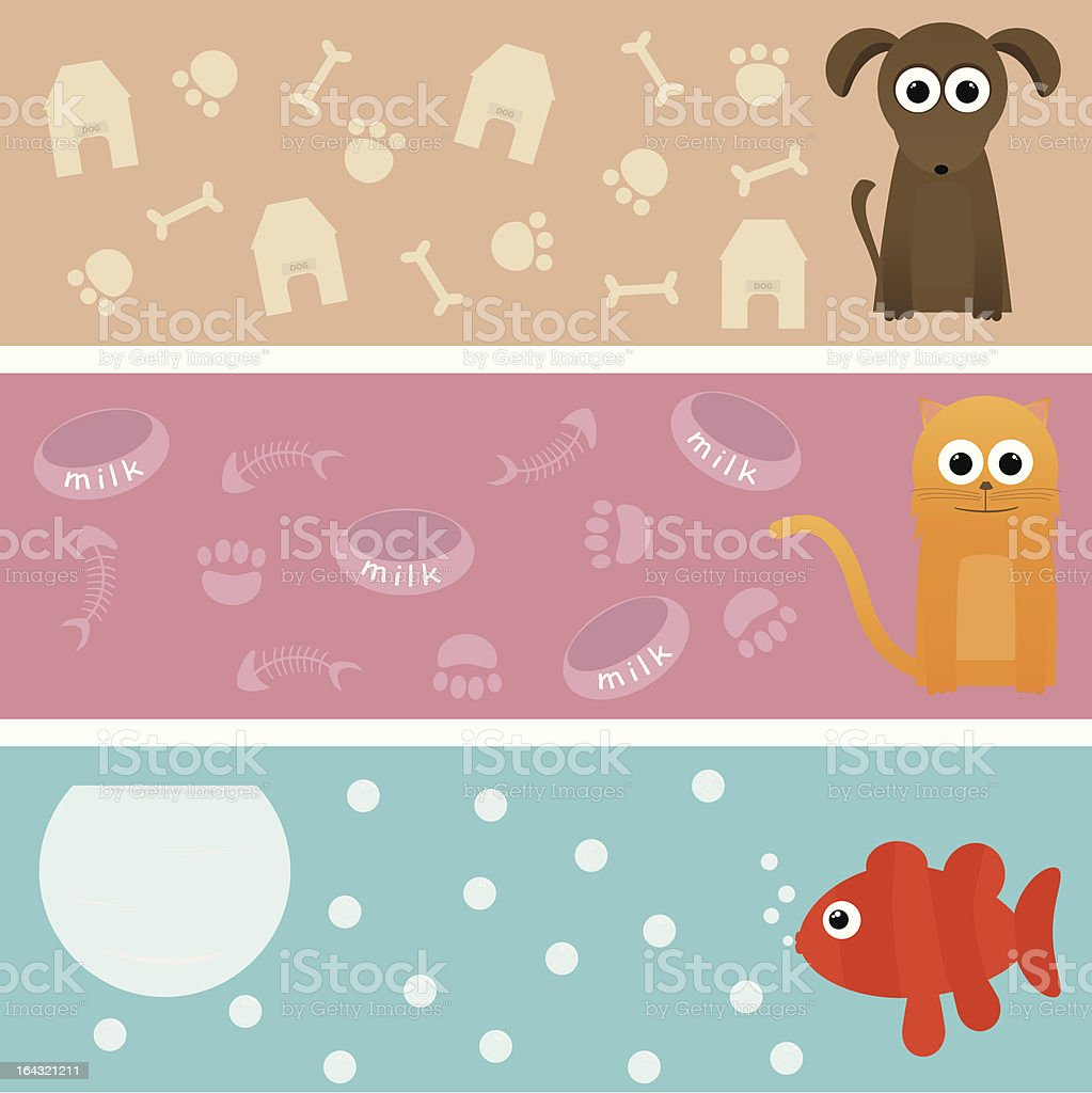 Domestic Animal Banner royalty-free stock vector art