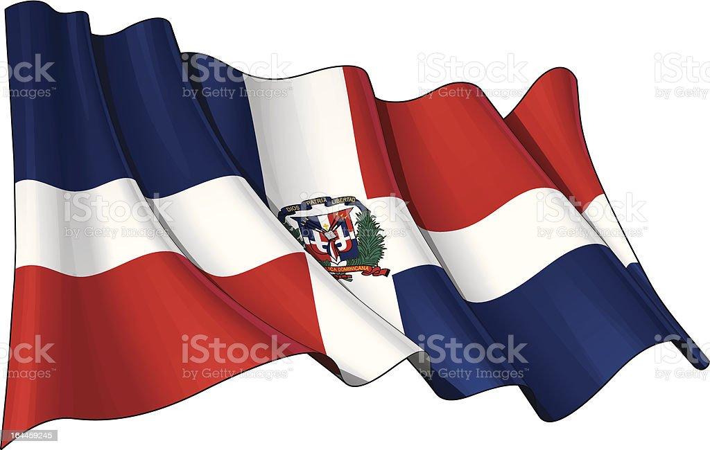 Dominican Republic Flag vector art illustration