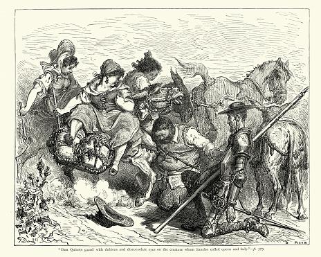 Don Quixote Clip Art, Vector Images & Illustrations - iStock