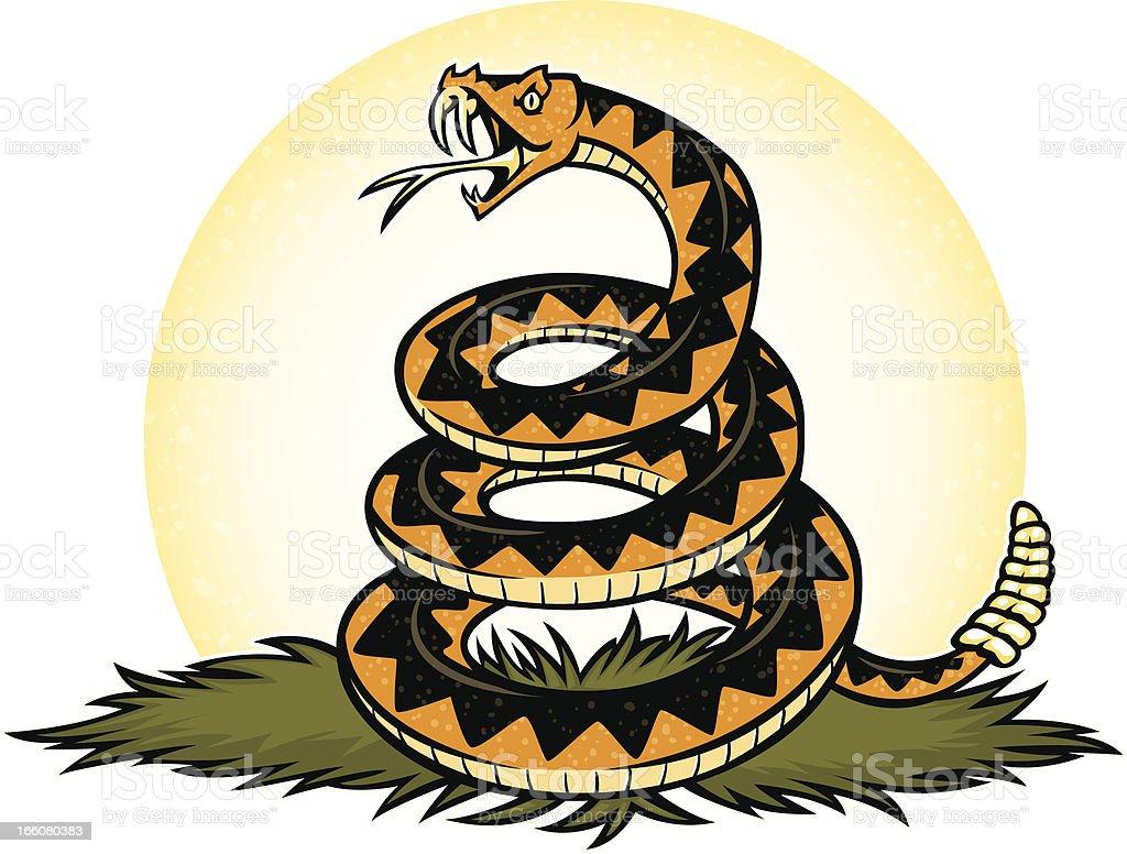 dont tread on me snake vector art illustration