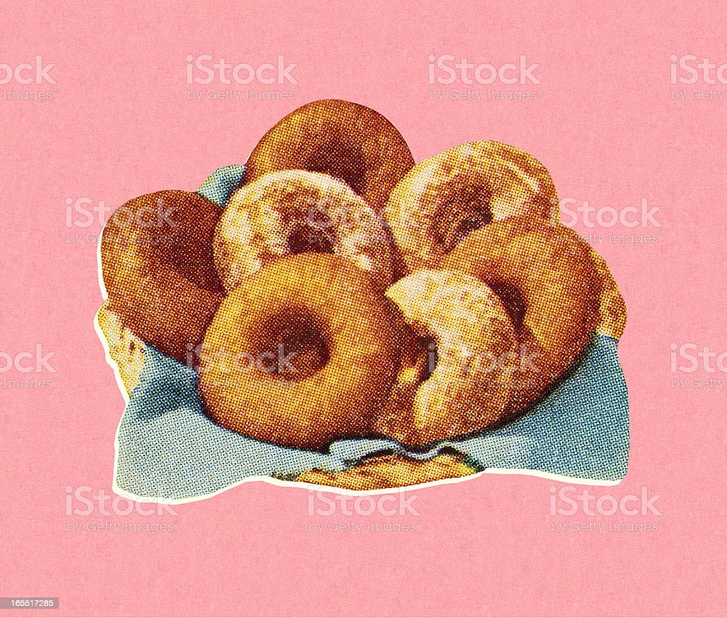 Donuts royalty-free stock vector art