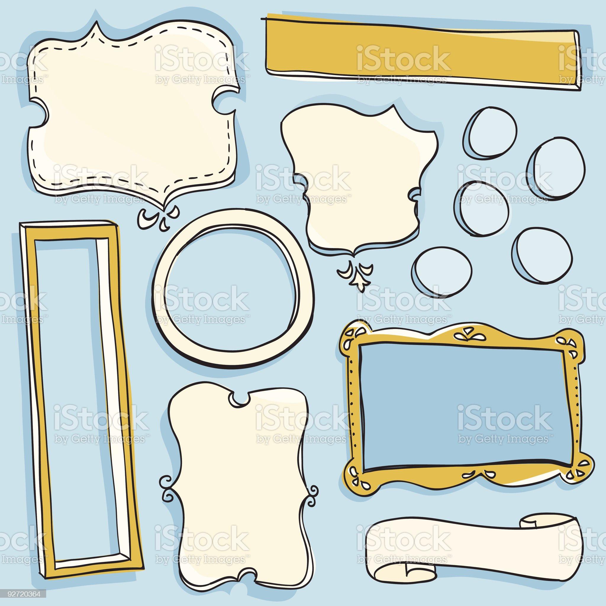 Doodle Frames royalty-free stock vector art