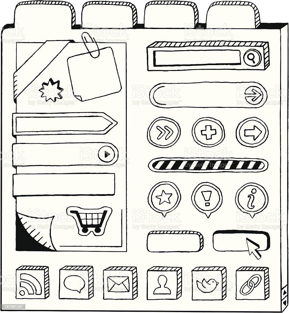 Doodle Web Elements royalty-free stock vector art