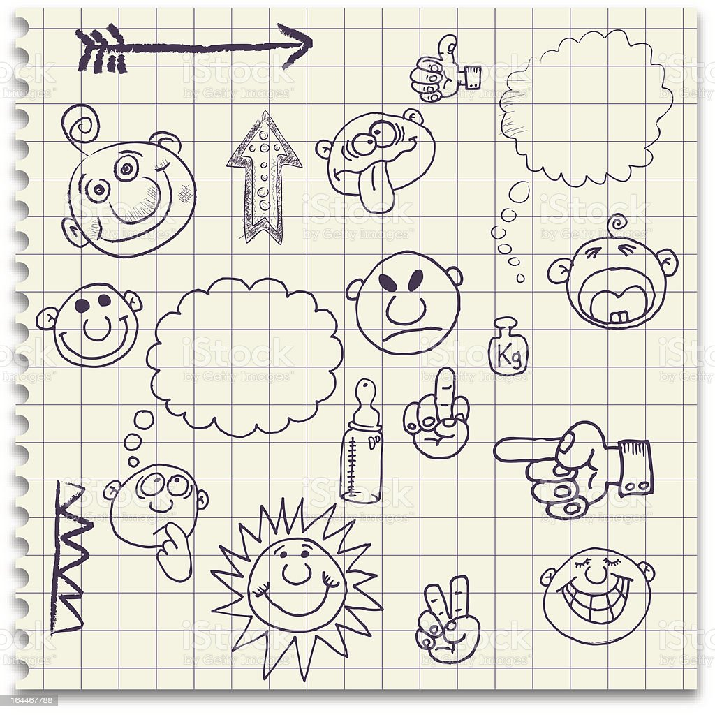 Doodles royalty-free stock vector art