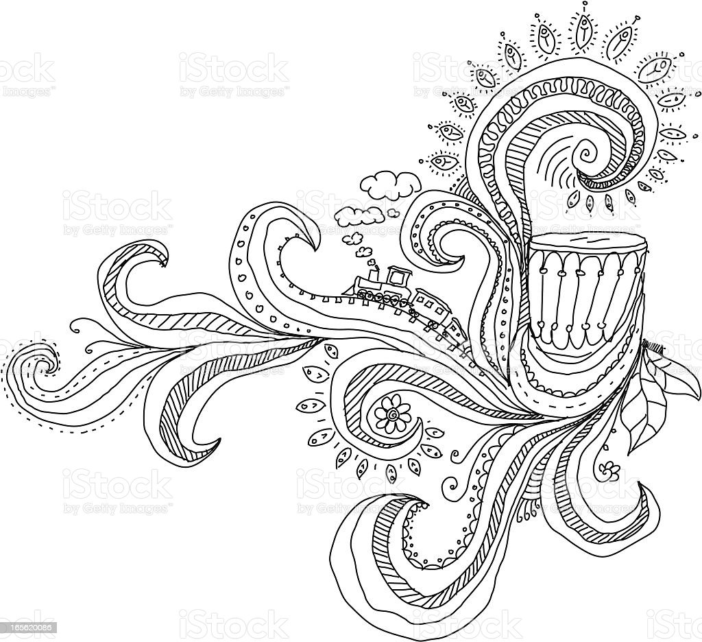Doodools royalty-free stock vector art