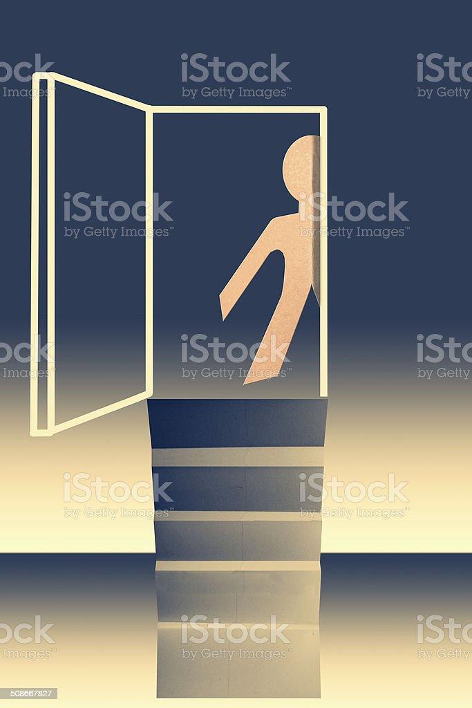 door of opportunity concept vector art illustration